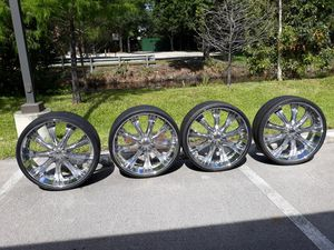 RS 28in rims All Chrome for Sale in Fort Lauderdale, FL