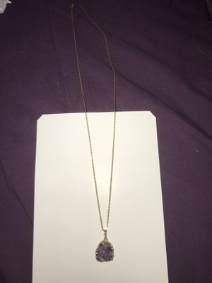 Amethyst Crystal necklace for Sale in Perris, CA