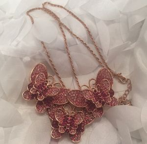 Pink Sparkling Butterfly Necklace/ Brooch for Sale in Henderson, NV