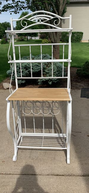 White Metal Bakers Rack for Sale in Dunlap, IL
