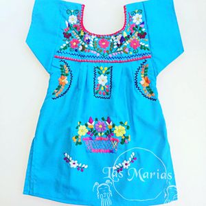 🌵🌺🌸Artisan girls Margarita Mexican Dress hand-made Embroidered with colorful flowers for Sale in Celebration, FL