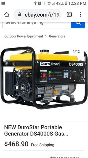 Gas generator for Sale in Columbus, OH