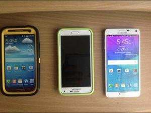 Samsung Galaxy S4 16Gb Sprint, Samsung Galaxy S5 16Gb & Samsung Galaxy Note 4 32Gb Unlocked. for Sale in Ashburn, VA