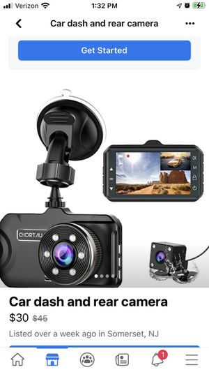 Dash cam rear and front for Sale in Somerset, NJ