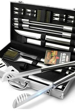 BBQ Grill Set w/ Case Utensil Tools Set 19 Piece Stainless Steel GRILLART for Sale in Tucson,  AZ