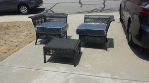Wicker Set Chair & Table Brand New tio Quality Wicker Lounge or Can be 2 Chairs & Table Brand New for Sale in Walnut, CA