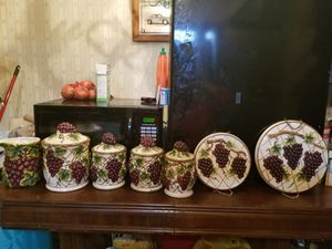 Kitchen storage and decoration set. Grape themed for Sale in Philadelphia, PA
