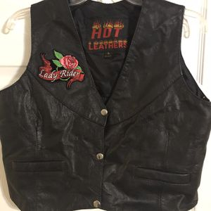 Women's Leather Motorcycle Vest Large for Sale in Port Richey, FL