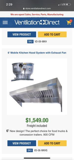 Commercial Exhaust and Hood for Sale in Columbus, OH