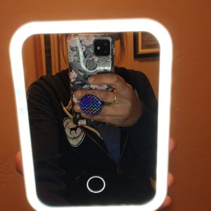 Rechargeable Portable Light Up Vanity Mirror With Kickstand for Sale in Glendale, AZ