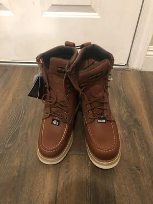 "Wolverine 8"" moc toe non steel toe work boots for Sale in Eastvale, CA"