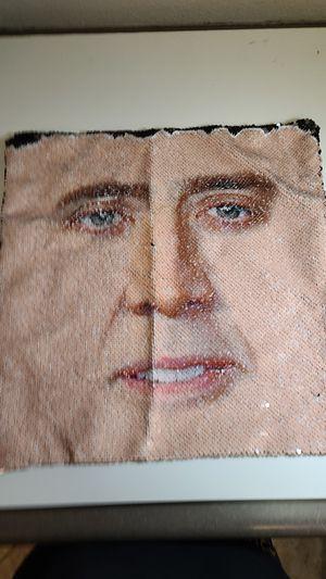 JASEN Mermaid Sequin Nicolas Cage Pillow Covers Decorative Color Changing with Sequins Throw Standard Pillow Cases Cushion Cover for 16x16 for Sale in Gilbert, AZ