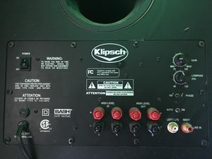 "$200 Klipsch 10"" powered subwoofer for Sale in Virginia Beach, VA"