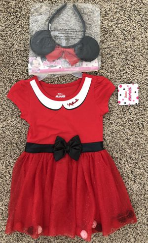 2T Girl Minnie Mouse Halloween Costume Red Dress New for Sale in Las Vegas, NV