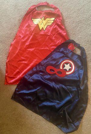 Costumes! Two Super Hero Capes superhero for Sale in Tacoma, WA