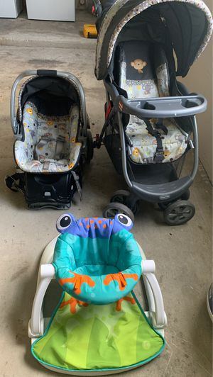 Car seat stroller and baby Stan toy for Sale in Dunnellon, FL