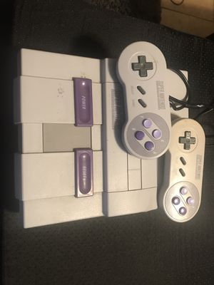 Super Nintendo with two controllers for Sale in Downey, CA