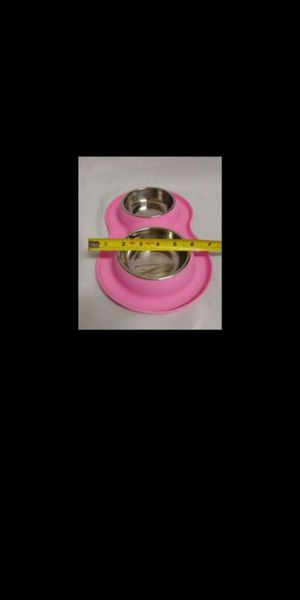 New. Pet Bowls. 2 Stainless Steel Bowls with No Spill, Non-Skid Silicone Mat for Sale in Norco, CA
