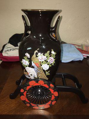Peacock vase set of 2 for Sale in Roseville, CA