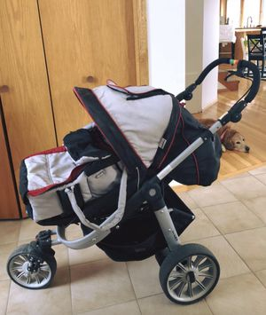 German brand stroller with winter bag, car seat cover. for Sale in Buffalo, MN