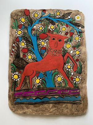 Vintage Mexican Folk Art on bark for Sale in Seattle, WA