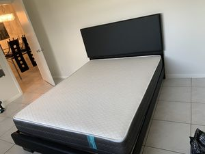 New black bed frames with mattresses FREE DELIVERY twin 245$ full 280$ queen 290$ for Sale in Pembroke Pines, FL