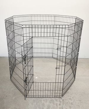 "(NEW) $45 Foldable 48"" Tall x 24"" Wide x 8-Panel Pet Playpen Dog Crate Metal Fence Exercise Cage for Sale in South El Monte, CA"