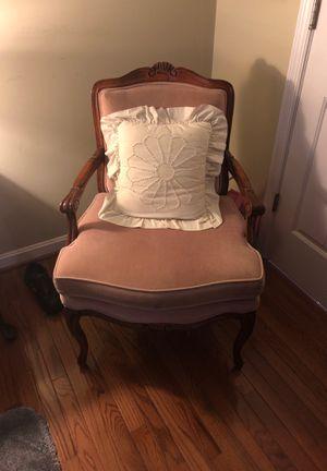 Moff velvet hardwood antique chair for Sale in Herndon, VA