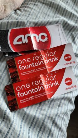 2 AMC Movie Tickets with Regular Fountain Drinks for Sale in Monroe,  WA