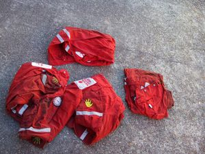 4 red large overalls for Sale in Houston, TX