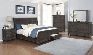 Beautiful four piece queen bedroom set only $54 Down for Sale in Duncanville, TX