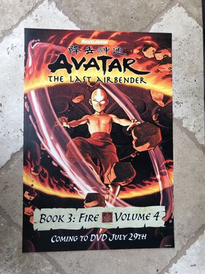 Avatar poster!!!! RARE BOOK 3 POSTER for Sale in San Diego, CA