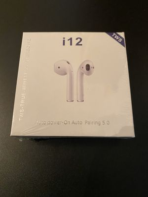 i12 TWS Bluetooth 5.0 Earphones Wireless Headphones Earbuds For iPhone and Android for Sale in Orlando, FL