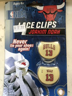 Chicago Bulls shoe lace clips for Sale in Blue Island, IL