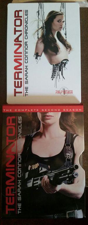 Terminator The Sarah Connor Chronicles DVD Steelbooks Season 1 & 2 for Sale in San Fernando, CA