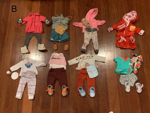 Doll Clothes fits American Girl Our Generation - 7 outfits plus for Sale in Rahway, NJ