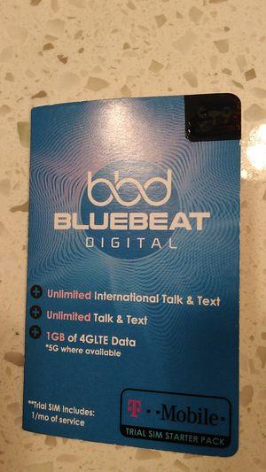 Bluebeat Digital Universal Sim Card for Sale in San Diego, CA