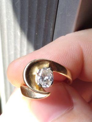 1.25Ct oval cut diamond, set in solid 14k custom band for Sale in Flint, MI