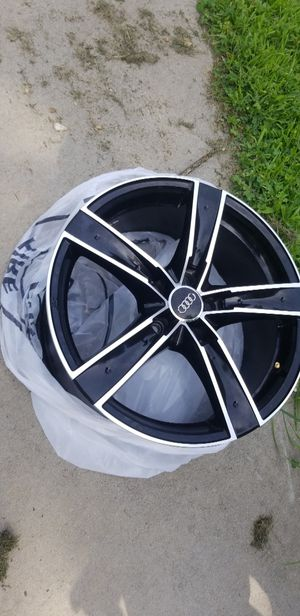 Audi rims 18s 5x112 (replaceable center caps) for Sale in Providence, RI