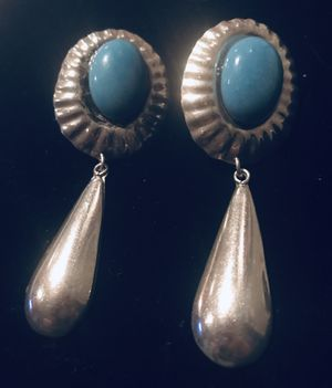 Native American silver and turquoise vintage earrings for Sale in Colesville, MD