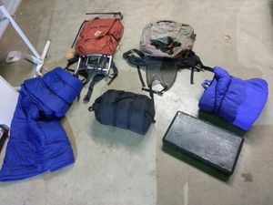 HIKING BACKPACKS AND SLEEPING BAGS READ DETAILS for Sale in Overland, MO