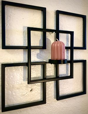Metal wall art candle holder H11xW11xD2.5 inch for Sale in Sun Lakes, AZ