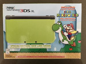 Nintendo 3DS XL New Lime Green Limited Edition with 5 awesome games and original accessories. for Sale in Redmond, WA