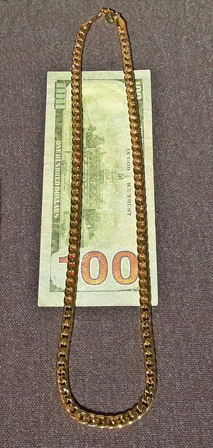 """18K Gold Filled 22"""" Curb Chain Necklace 6MM Stamped for Sale in Union, WA"""