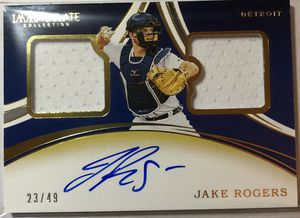 2020 IMMACULATE JAKE ROGERS DUAL PATCH AUTO 23/49 for Sale in Lock Haven, PA