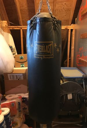 Vintage Everlast Punching Bag w/industrial hanging chain for Sale in Greenville, NC