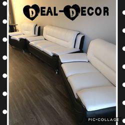 White/Black 3 Piece Sofa Set for Sale in Atlanta,  GA