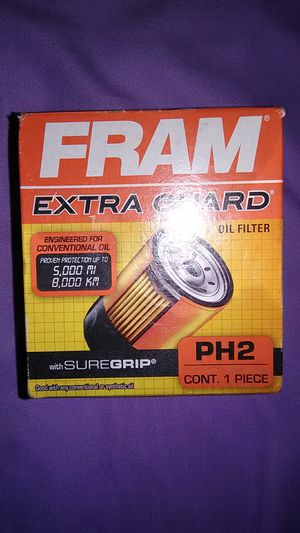 Fram extra guard oil filter PH2 AND Fram high mileage oil filter HM10575 for Sale in Whipholt, MN