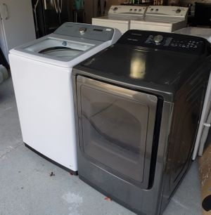 Like New Samsung Top Load Washer & Electric Dryer Set! Can Deliver! Come See Anytime in my VB Garage! Delivery! Military Discount! Near Town Center! for Sale in Virginia Beach, VA