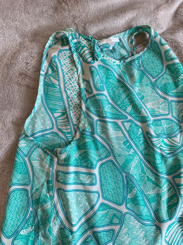 Glam Teal Pattern Top - M
